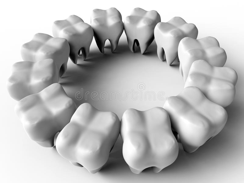 3D teeth stock illustration