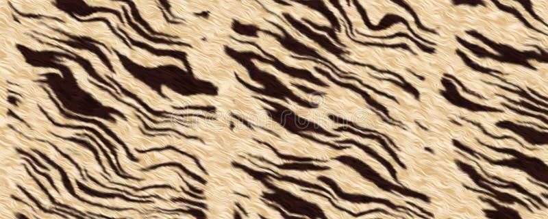 3d tekstury Bezszwowy Biały Tygrysi Futerkowy tło royalty ilustracja