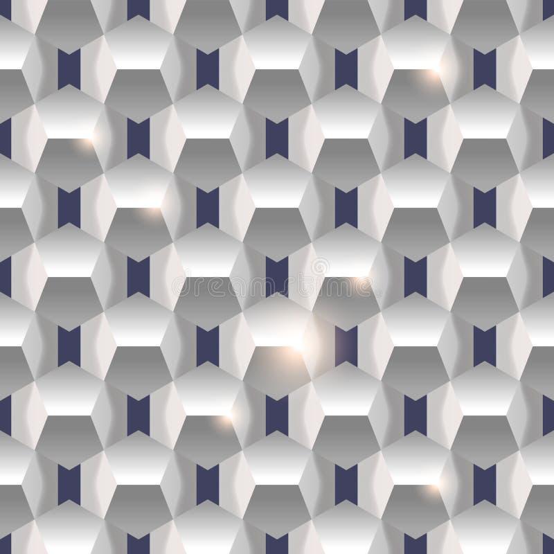 3D tekstury papierowy prosty czysty bezszwowy geometryczny biały backgroun ilustracji