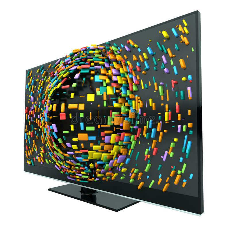 Download 3D Television Concept Isolated Stock Illustration - Image: 30610010