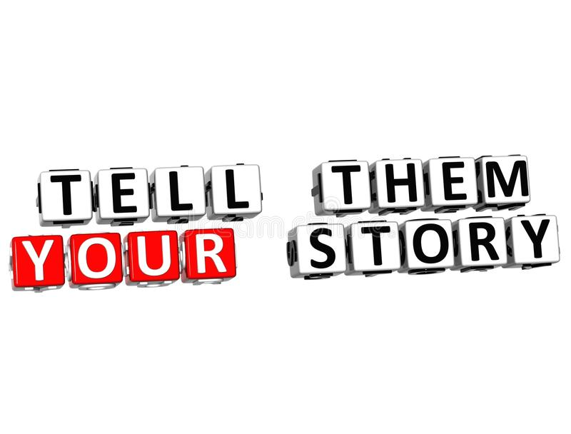 3D Tell Them Your Story vector illustration