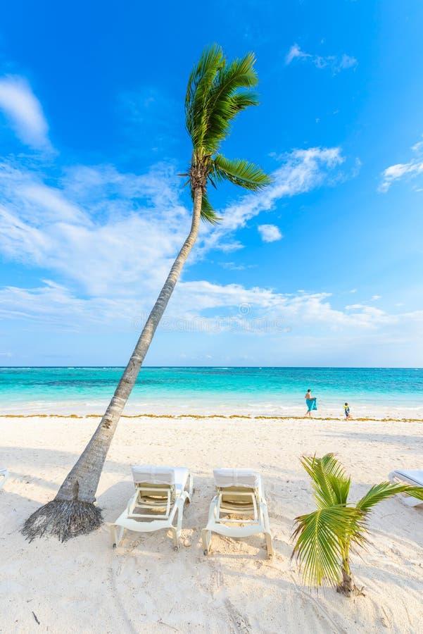 D?tendant sur le canap? du soleil ? la plage d'Akumal - Maya de la Riviera - plages de paradis chez Cancun, Quintana Roo, Mexique image libre de droits