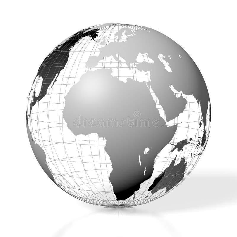 3D terra, mapa do mundo ilustração do vetor
