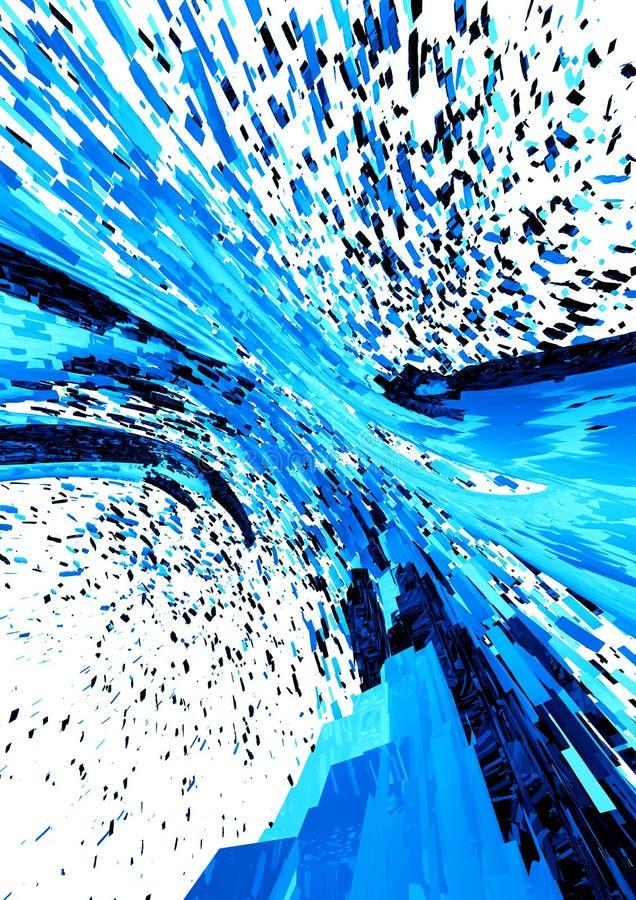 3D Teruggegeven abstracte achtergrond modern ontwerp royalty-vrije illustratie