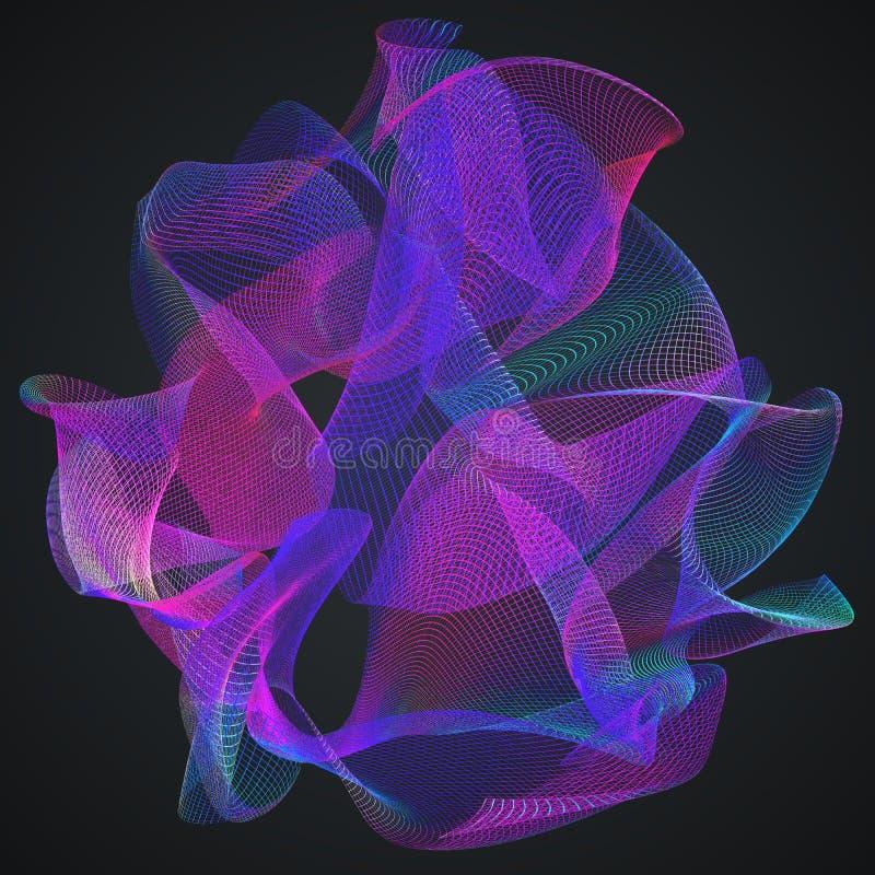 3D teruggegeven illustratie vector illustratie