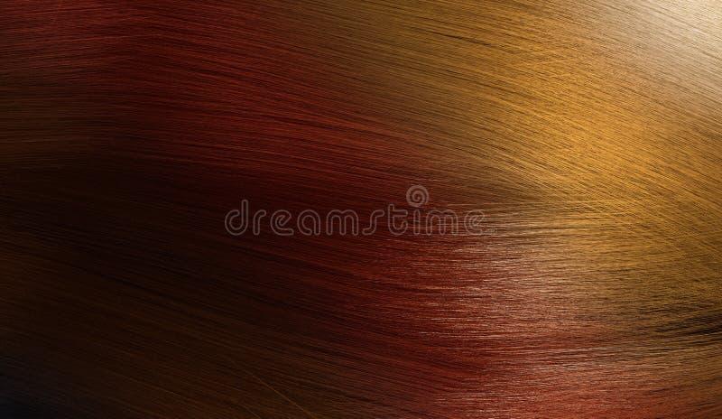 3D teruggegeven illustratie van kleurrijk vrouwelijk haar met gradiëntpalet van zwarte, rood tot blond stock illustratie