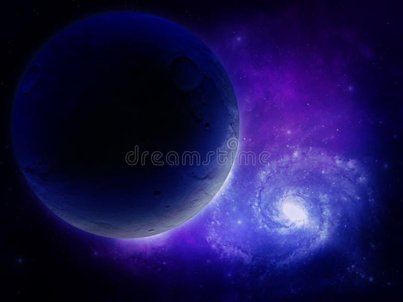 3d teruggegeven Ruimtekunst: Vreemde Planeet vector illustratie