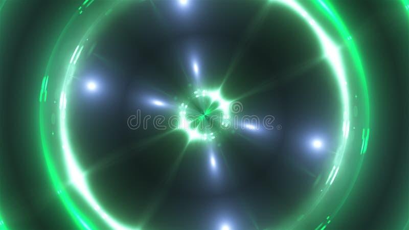 3d teruggeven van multicolored fractale lichten Verlichtende effecten Computer gegenereerde achtergrond van flikkerende cirkels stock illustratie