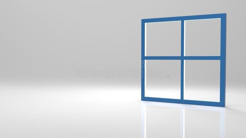 3d teruggevend abstract leeg raamkozijn met aardige mede achtergrond vector illustratie