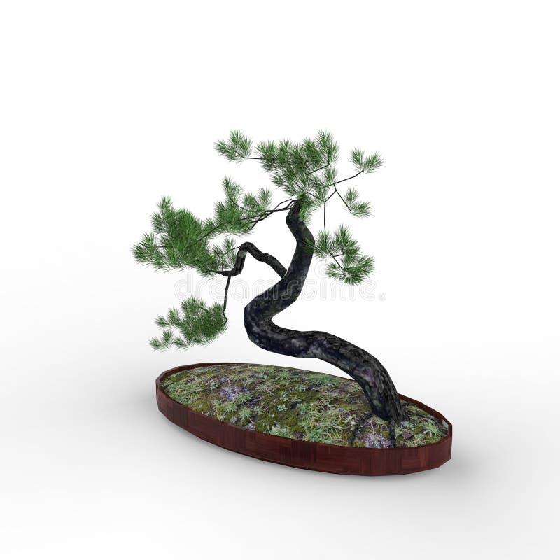 3d teruggevend een bonsai door een mixerhulpmiddel te gebruiken dat wordt gecreeerd vector illustratie