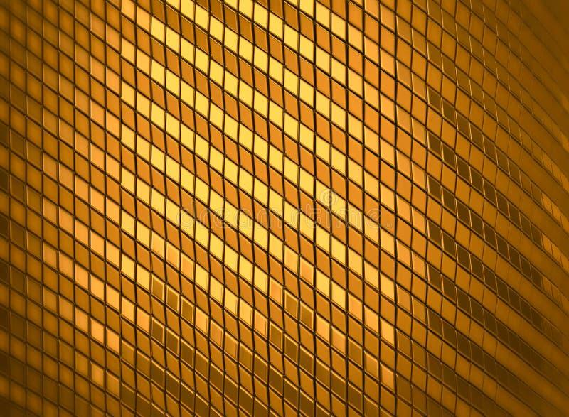 3d teruggevende abstracte luxe glanst gouden mozaïekachtergrond vector illustratie