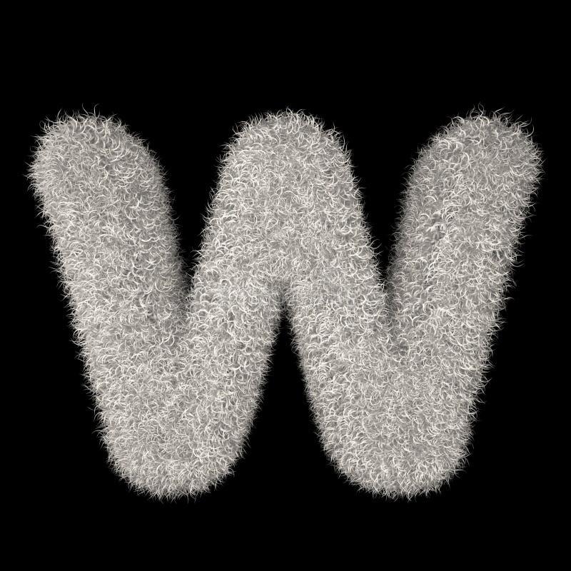 3D Teruggevende Creatieve Illustratie Witte Bontbrief R vector illustratie