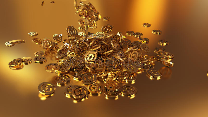 3d teruggevende e-mail royalty-vrije illustratie