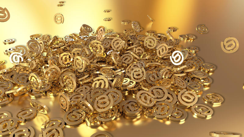 3d teruggevende e-mail vector illustratie