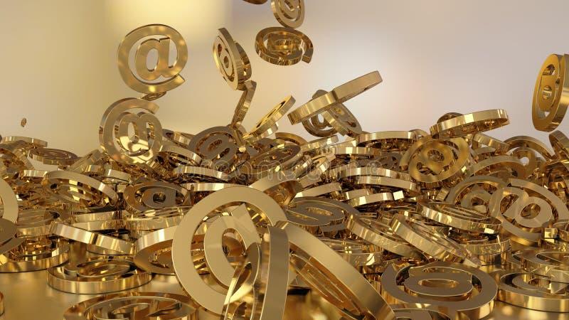 3d teruggevende e-mail stock illustratie