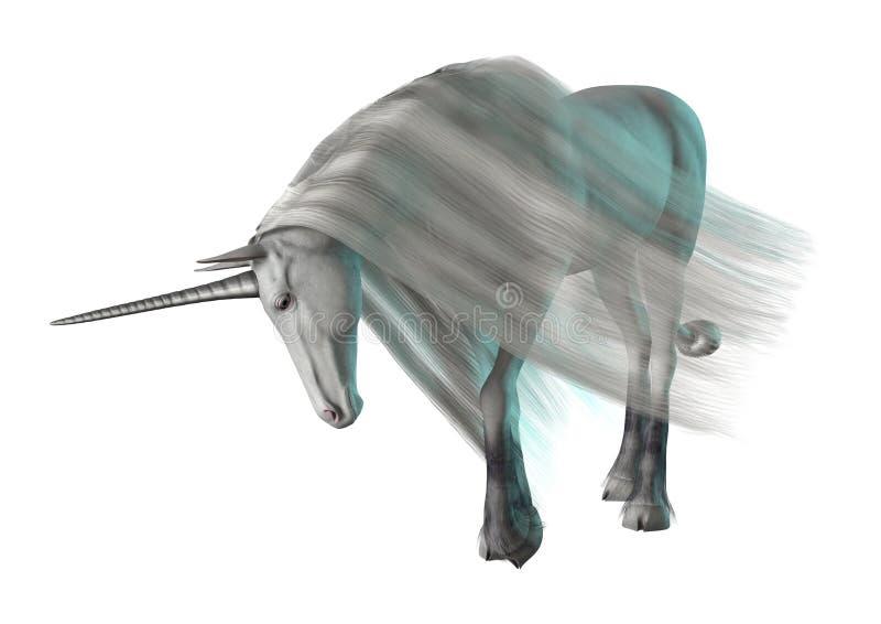 3D Teruggevende Fantasieeenhoorn op Wit royalty-vrije illustratie
