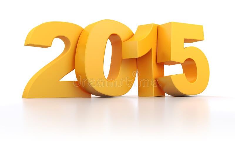 3d - texto 2015 stock de ilustración