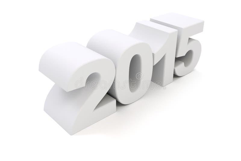 3d - texto 2015 ilustración del vector