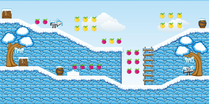 2D Tileset Platform Game 14 stock illustration