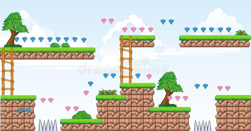 2D Tileset-Platformspel 2 royalty-vrije illustratie