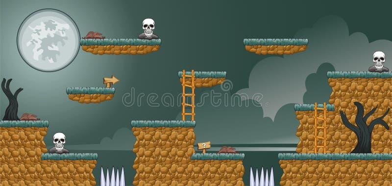 2D Tileset-Platformspel 16 royalty-vrije illustratie