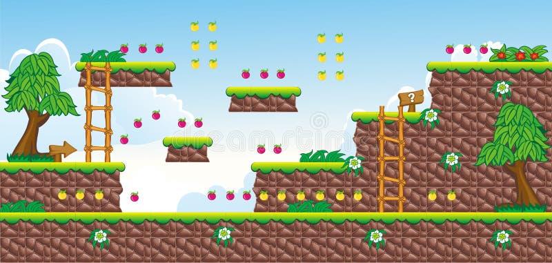 2D Tileset-Platformspel 18 royalty-vrije illustratie