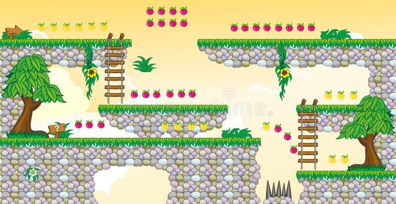 2D Tileset-Platformspel 25 stock illustratie