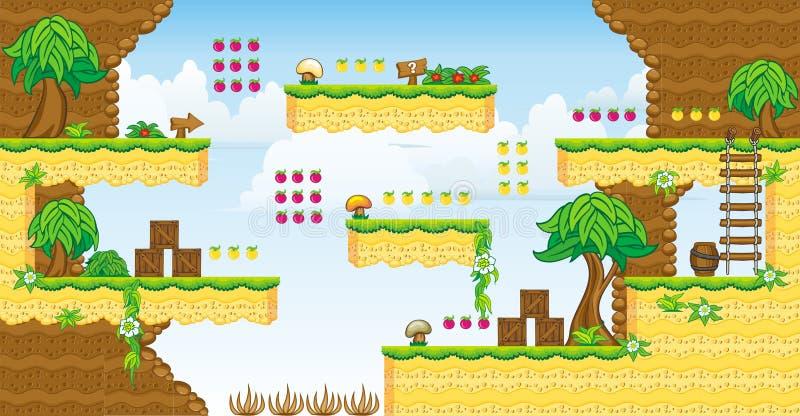 2D Tileset-Platformspel 32 vector illustratie