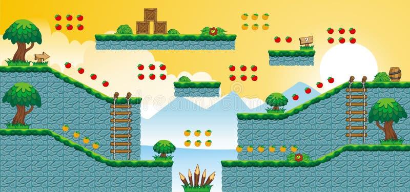2D Tileset-Platformspel 51 royalty-vrije illustratie