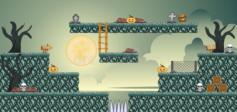 2D Tileset-Platformspel 53 stock illustratie