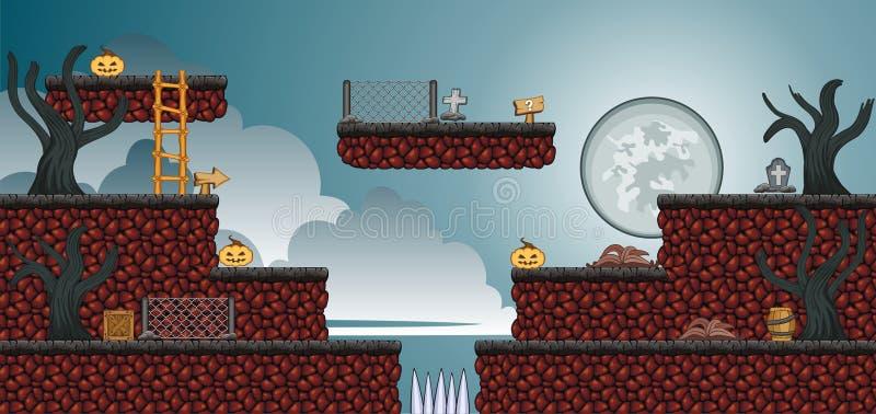 2D Tileset-Platformspel 54 royalty-vrije illustratie