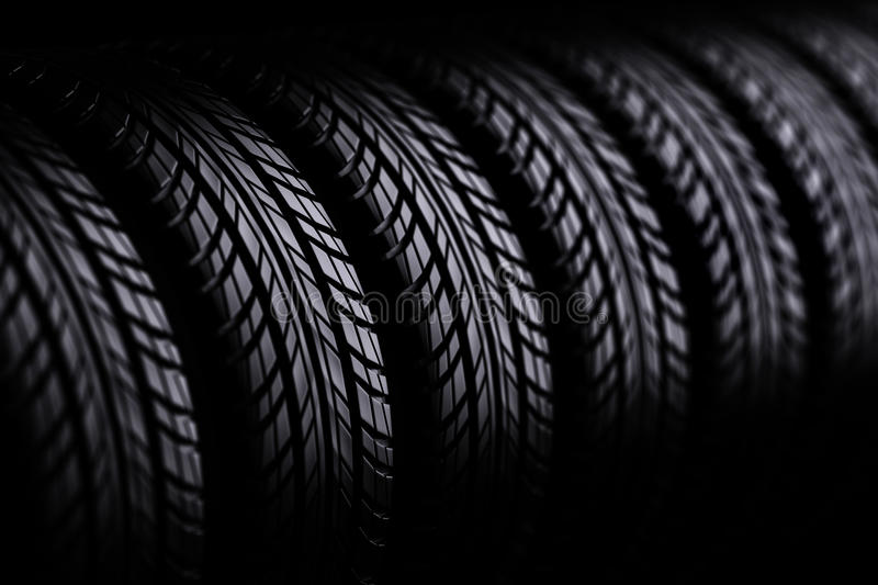 3d tires vector illustration