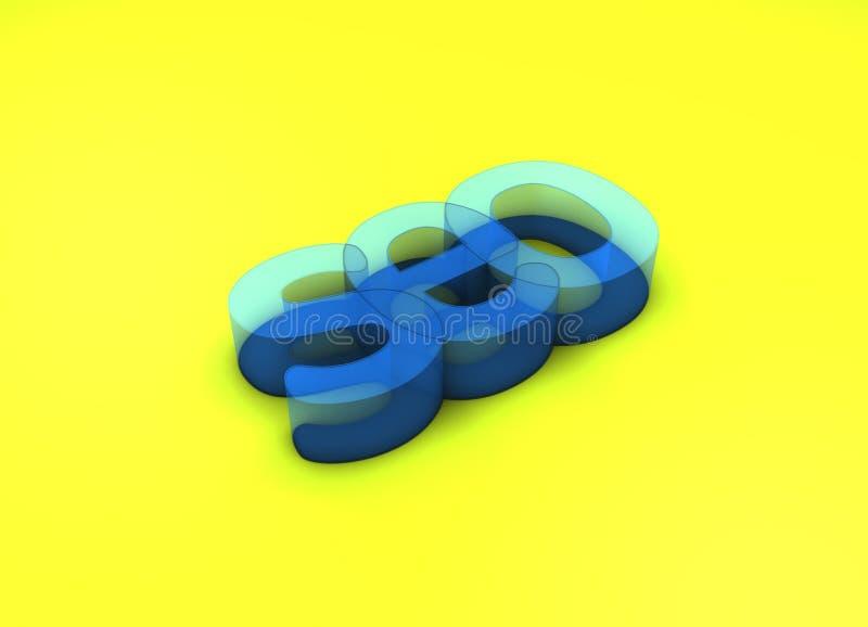 3D Titel van SEO stock afbeelding
