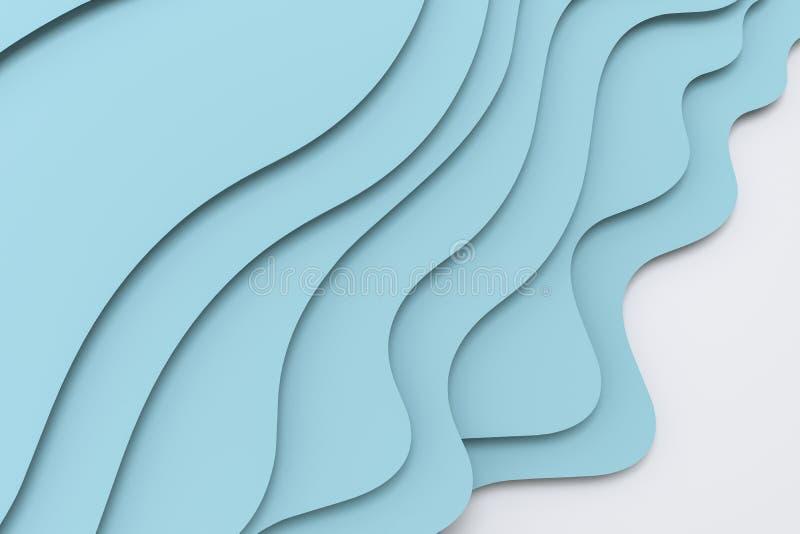 3d tolkning, multilayer bakgrund för papperssnittillustration vektor illustrationer