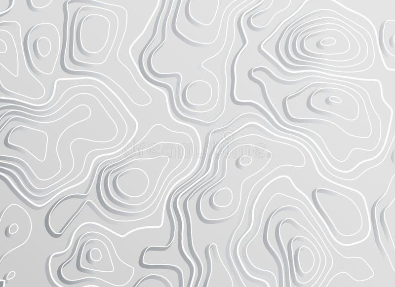 3d topograficznej mapy konturu elewaci pojęcia tło royalty ilustracja