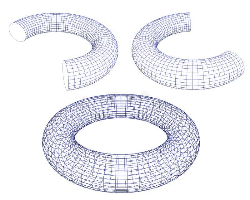 3d torus ilustracji