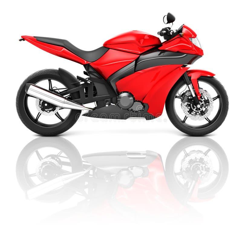 3D trägt Motorrad zur Schau vektor abbildung