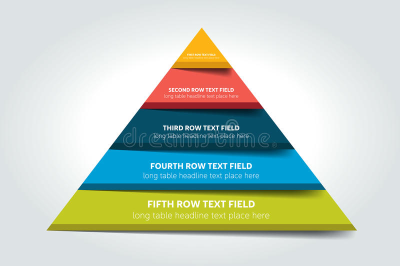 3d trójbok infographic, mapa, plan, diagram, stół, rozkład, element royalty ilustracja