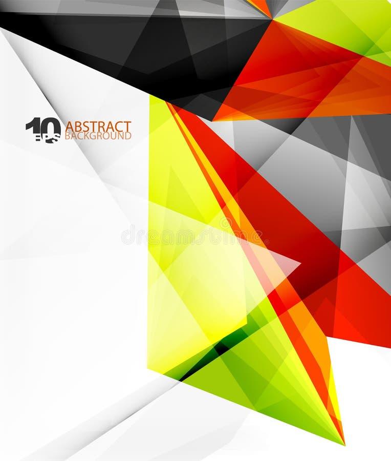 3d trójboka poligonalny abstrakcjonistyczny wektor ilustracji