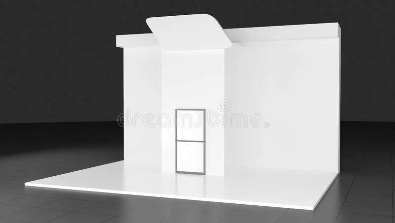 3d Trade show booth 3d on background stock photography