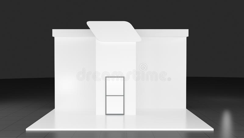 3d Trade show booth 3d on background, royalty free stock image