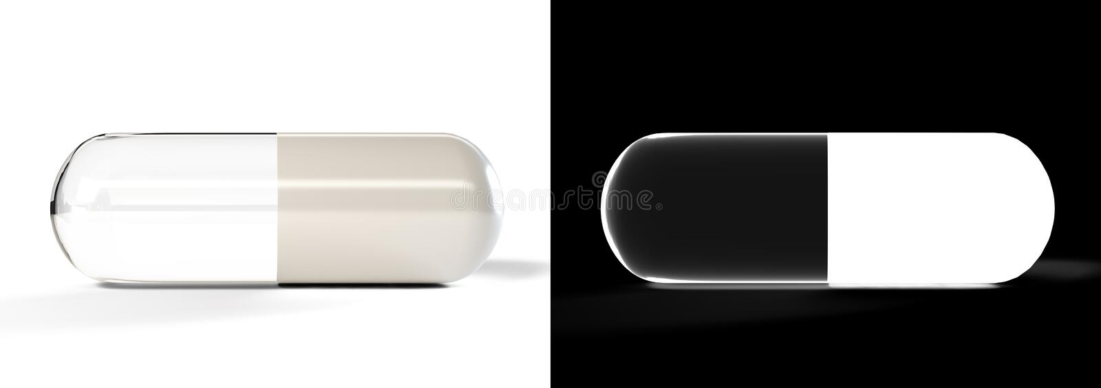 3D transparency pill stock photography