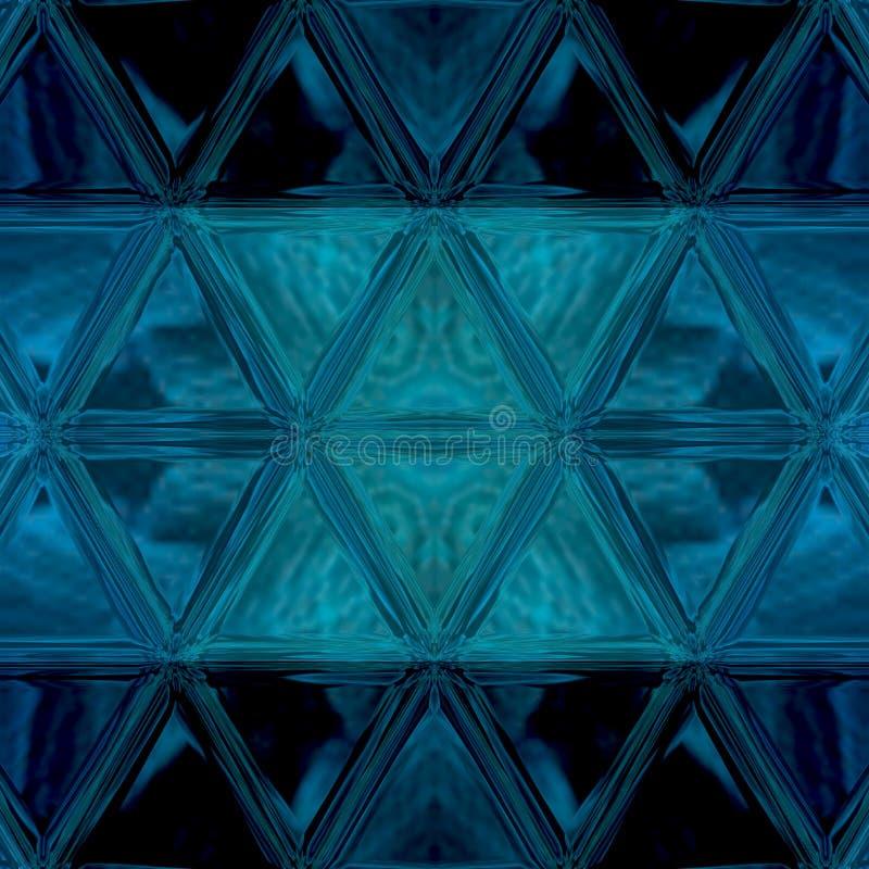 3d tri?ngulos, fundo abstrato Contexto transparente do mosaico de n?on azul com espa?o da c?pia ilustração stock