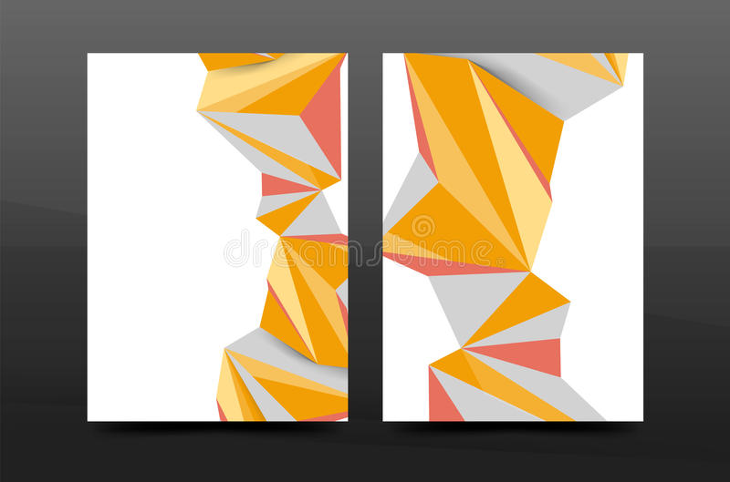 3d triangle shapes. Business annual report cover vector illustration