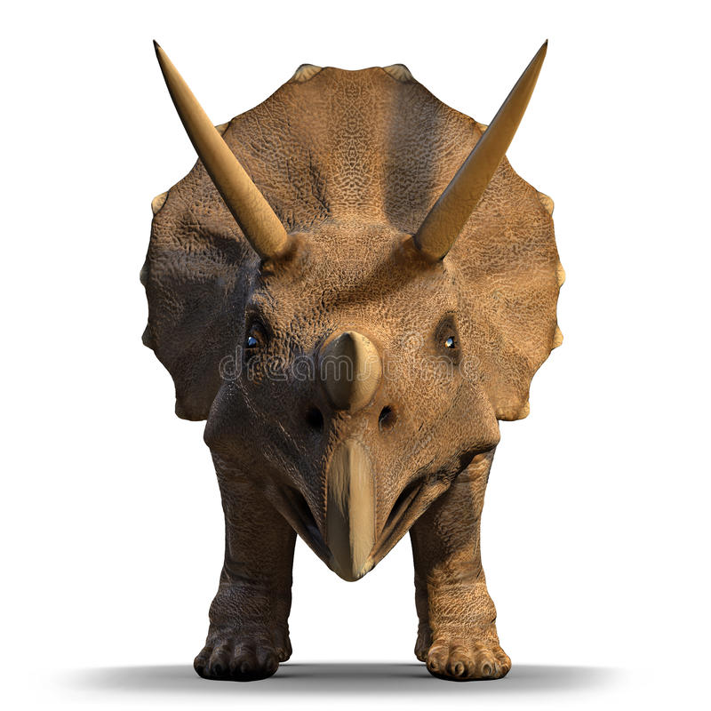 3d Triceratops. 3d front view render of a triceratops vector illustration