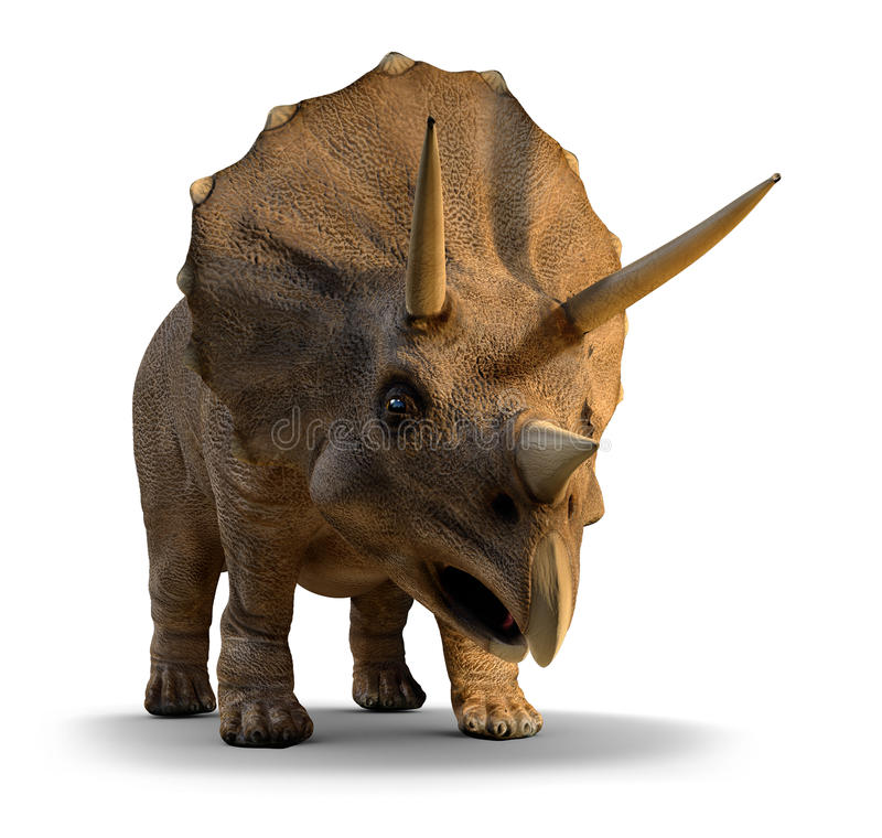 3d Triceratops. 3d render of a triceratops stock illustration