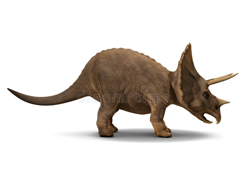 3d Triceratops. 3d side view render of a triceratops royalty free illustration