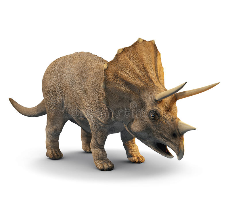 3d Triceratops vector illustration