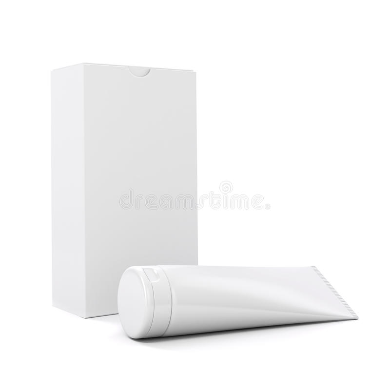 3d tube for cosmetics. On white background royalty free illustration