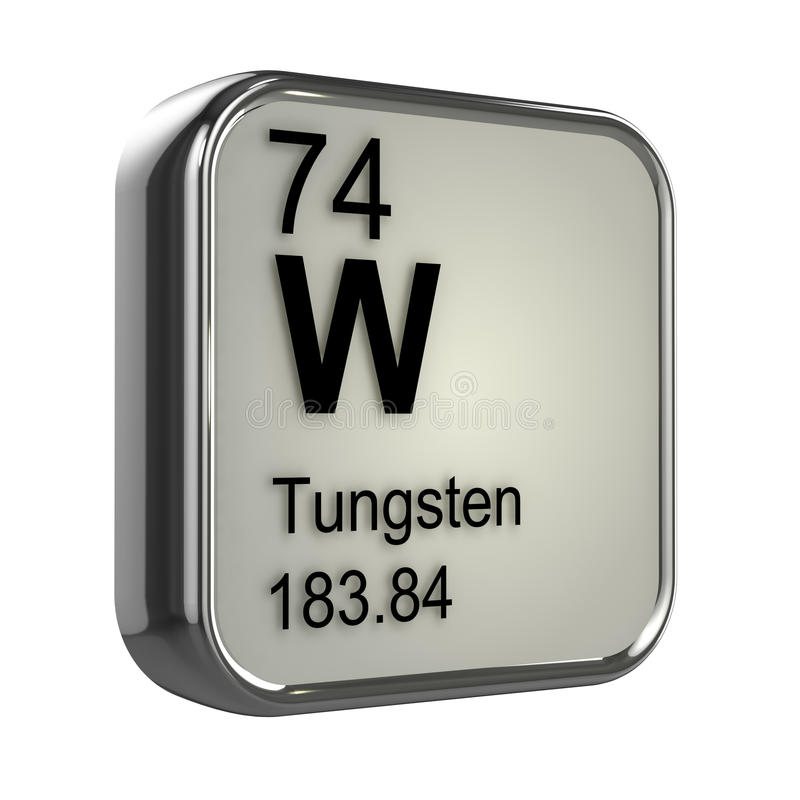 3d Tungsten element stock illustration